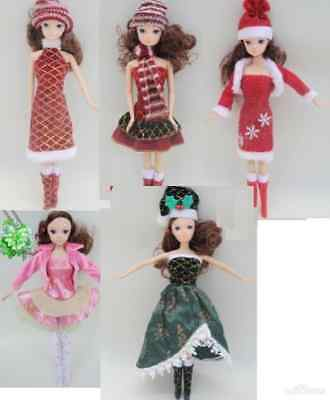 ON SALE BEST GIFT@@5 pc Popular Barbie Doll sized Casual Clothes+5 pair of shoes