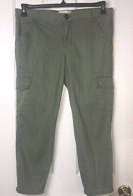 Live Life by Sanctuary Runway Capri Cropped Pants (Size 14) Green Cargo
