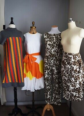 Vintage Clothing Lot 40's-70's Dresses 28 LOT VTG WOMENS OUTFITS  35 pieces