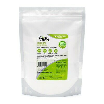 Inulin 1kg - Pure High Quality 100% Natural Dietary Fibre Powder