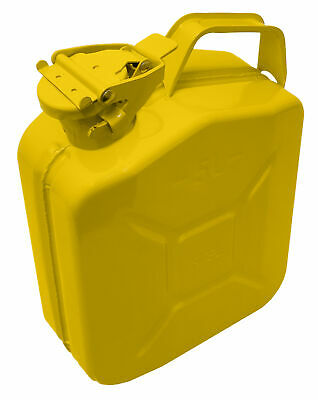 STEL 5 Litre Yellow Metal Fuel Tank Jerry Can Gasoline Diesel Petrol