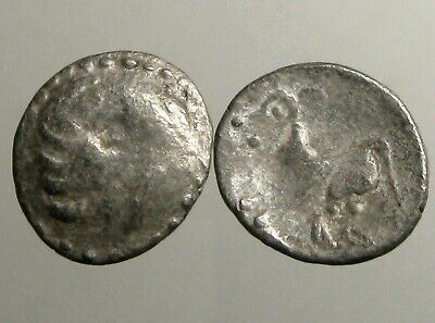 """ANCIENT CELTIC SILVER DRACHM___Stylized Philip II Type__FIGHT LIKE """"WILD BEASTS"""""""
