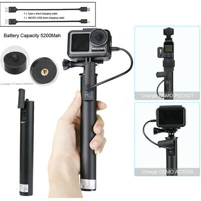 Portable Power Bank Extended Handle Bracket Charging Buckle For DJI OSMO Pocket