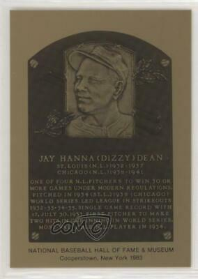 1981 1981-89 Metallic Hall of Fame Plaques Dizzy Dean St. Louis Cardinals Card