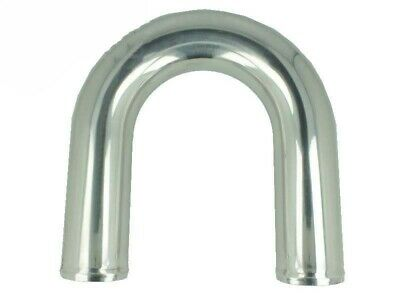 Aluminum elbow 180° with 80mm diameter, drawn, polished
