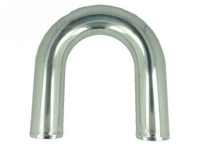 Aluminum elbow 180° with 76mm diameter, drawn, polished