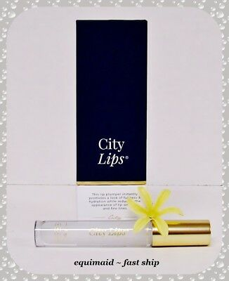 City Lips CLEAR Lip Plumping Lip Gloss Treatment  NEW & SEALED