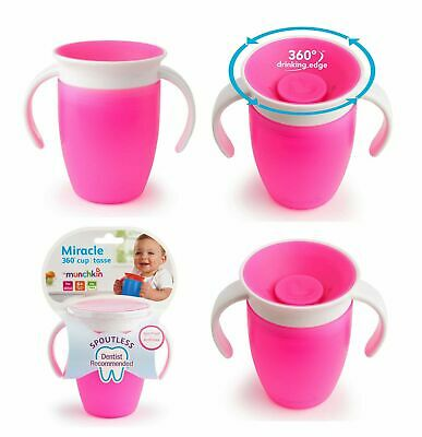 Munchkin Trainer Cup Miracle 360 Degree Easy Clean Spill Proof Pink 207 ml/7 oz