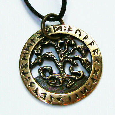 TREE OF LIFE Scandinavian Celtic - bronze amulet pendant - ancient style