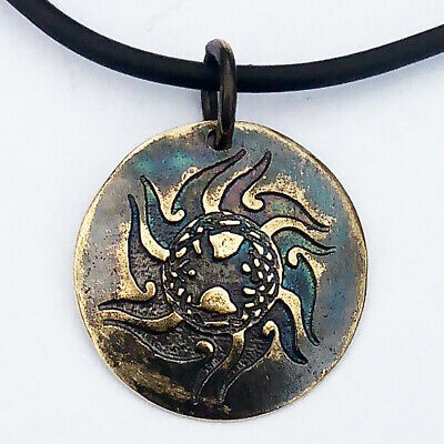 CELTIC SUN scandinavian - bronze amulet pendant - ancient style