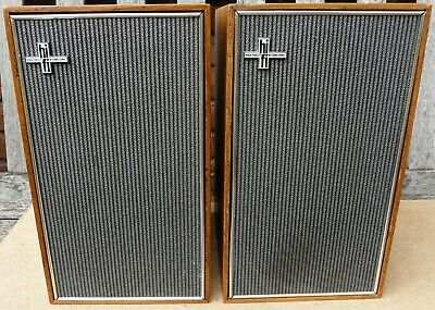 Matched Philips 22gl565 1960's two way bookshelf speakers serial 22601 and 22602