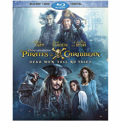 Pirates of the Caribbean: Dead Men Tell No Tales blue ray+dvd+digital