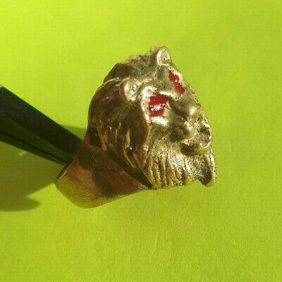 extremely ancient old monkey head ring bronze legionary antique ring rare type