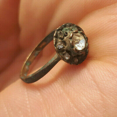 extremely ancient old ring bronze legionary solid ring bronze rare type