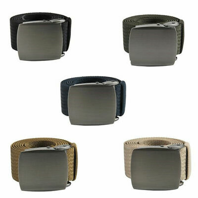 Military Style Canvas Web Belt Tactical With Zinc Alloy Buckle Casual Unisex
