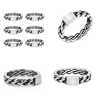 Women Personalised Engraved Stainless Steel Celtic Knot Ring Fashion Gift #7-#11