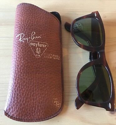 B&L Ray-Ban Wayfarer 40 Years Special Edition Sunglasses - Vintage with Case