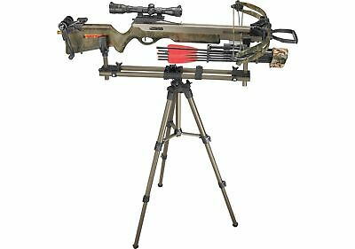 Crossbow Tripod Stand Rifle Shooting Rest Mount Adapter Hunting Target Practice