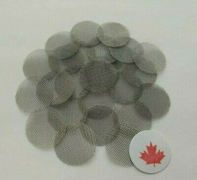 "25 Pipe Screens 3/4"" (19 mm) Stainless Steel Smoking Filter Ships From Canada"