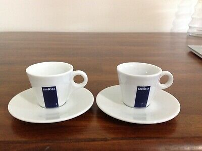 Lavazza Espresso Cups and Saucers - 2 sets Italy