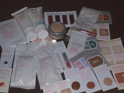 Lot of 50 MARY KAY Samples Satin Hands Moisturizer Foundation Cleanser Eye Color