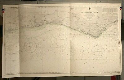 England South Coast Navigational Chart / Hydrographic Map # 1652 Bognor Regis
