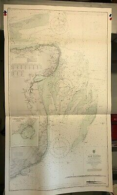 England South East Coast Navigational Chart / Hydrographic Map # 1828 Dover Deal