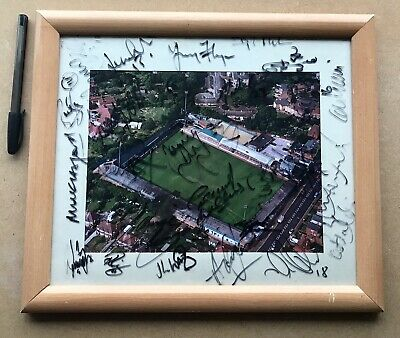 Colchester United Football Club LAYER ROAD 2008 Rare Squad Signed Framed Photo