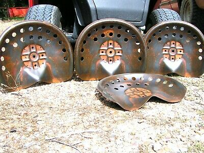 FOUR Steel tractor Farm machinery metal stool seat s New Old Style