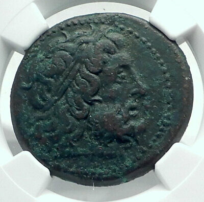 PTOLEMY II Philadelphos Ancient Greek Coin Syracuse Sicily Hieron II NGC i78527
