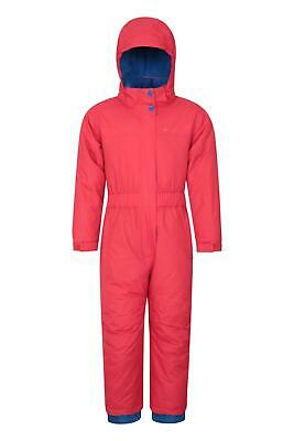 Mountain Warehouse Kids All In One Waterproof Snowsuit Fleece Lined Boys Girls