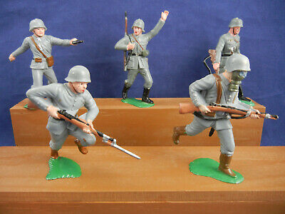 Marx 60mm Warriors of the World German Soldiers ~ 5pc ~ Different Poses