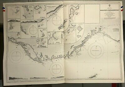 Mediterranean Sea Navigational Chart / Hydrographic Map # 237, Turkey in Asia