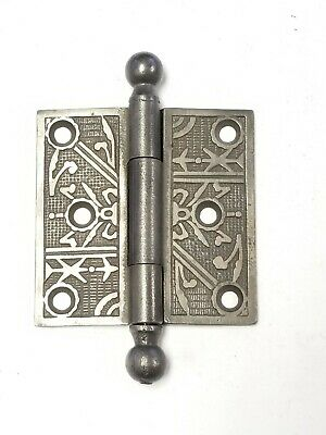 "A46 Antique Cast Iron Ornate Cannonball Hinge (SINGLE) 3"" x 3"""