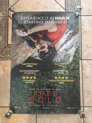 "Free Solo ORIGINAL D/S 27"" x 40"" Movie Poster Alex Honnold Tommy Caldwell Chin"