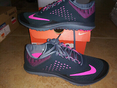 Details about Womens Nike Free Run 2 running shoes #536746 016 size 11 black pink white
