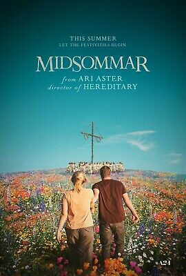 "Midsommar ORIGINAL D/S 27"" x 40"" Movie Poster Florence Pugh Will Poulter Reynor"