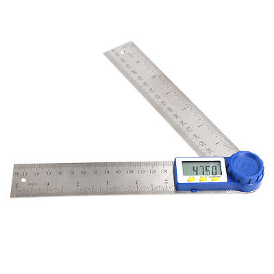 "7"" Digital Protractor & Rule Miter Gauge Angle Finder Angle Measuring Stainless"