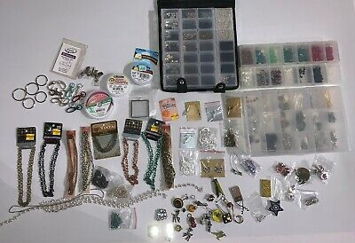 HUGE Lot of Jewelry Makers Beads Pendants Earrings Chains Wire and Supplies