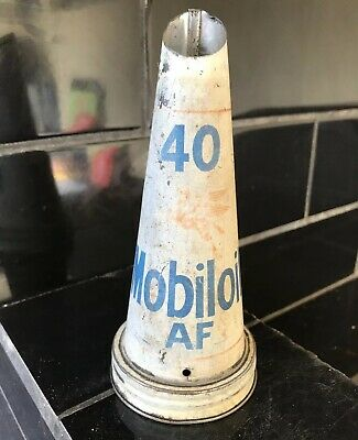 Mobiloil AF Vacuum Oil Co. Vintage Tin Oil Bottle Top