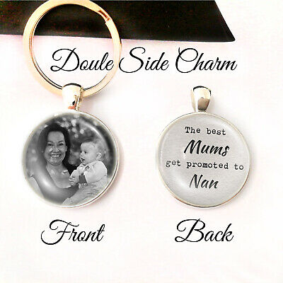Personalised Double Side Keyring Mum Nan Nanny Nanna Birthday Mothers Day Gifts