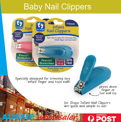 1x Au Baby Nail Trimmer Safe Clippers Newborn Toddler Toes Manicure Kit Sets