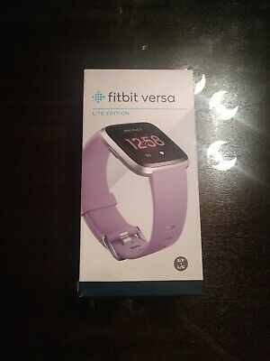 Fitbit Versa Lite Edition Lilac, Small & Large Bands Included, NEW