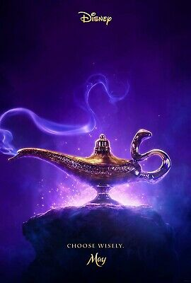 "Aladdin ORIGINAL D/S 27"" x 40"" Movie Poster Will Smith Mena Massoud Naomi Scott"
