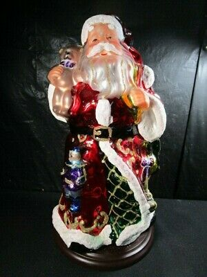 Thomas Pacconi Classics Blown Glass Santa Holiday Christmas 2004 Large Figure