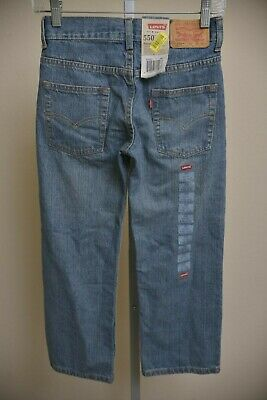 NEW Levis 550 Relaxed Fit Tapered Leg Boys size 8 Reg Blue Jeans (24x22) 91R550