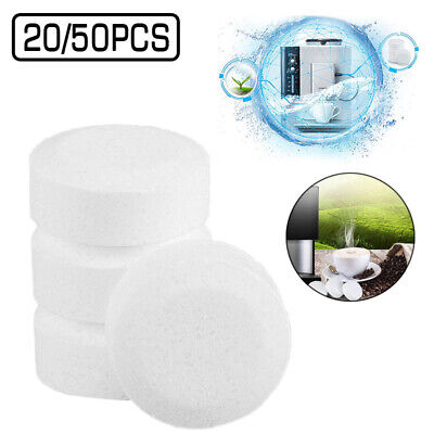 White Professional Effervescent Cleaning Tablet Descaling Coffee Machine 20x/50x