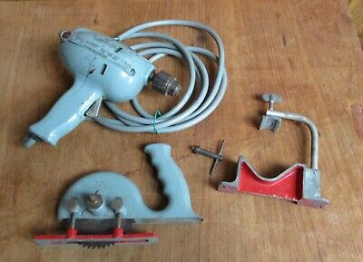 Kbc Vintage Tools – Power Chief Drill, Drill Stand & Saw Attachment – Aust Made