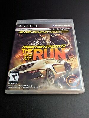Need for Speed the Run Limited Edition Playstation 3 LN perfect disc COMPLETE-!