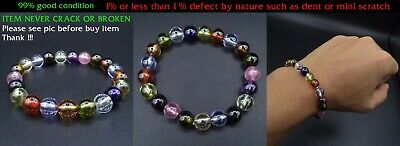 Mala Bracelet Naga Gem Multi Color Bead 7.8-8 Mm Real Thai Amulet Powerful